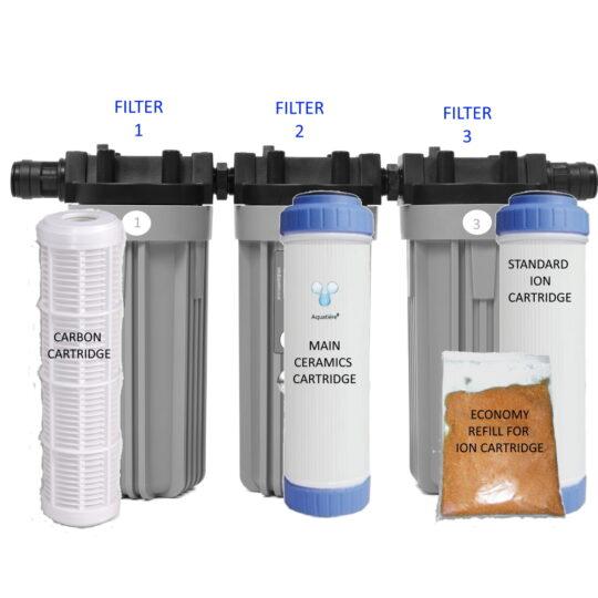 Pureau 1 Saltless Water Softener & Filter Standard/H+ service items