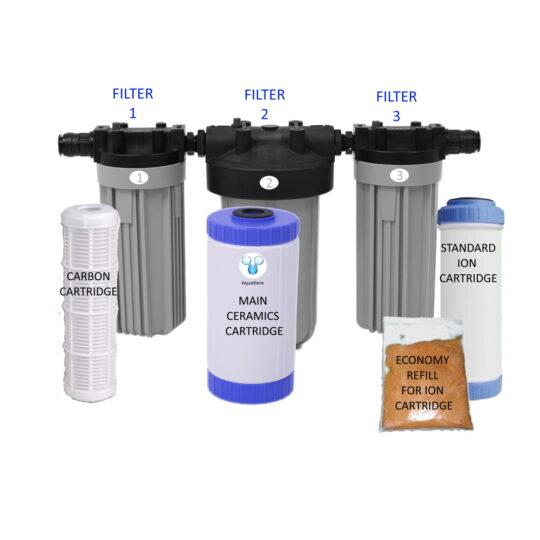 Pureau 2 Saltless Water Softener & Filter Standard/H+ Service items