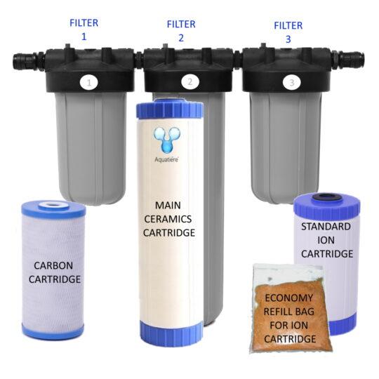 Pureau 3 Saltless Water Softener & Filter Standard/H+ Service items