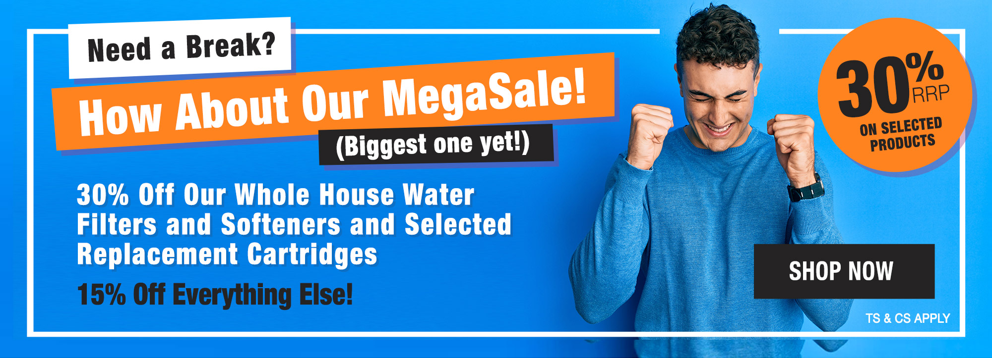 30% Off Our Whole House Water Filters and Selected Replacement Cartridges
